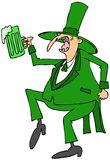 Leprechaun dance Royalty Free Stock Photography