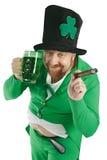 Leprechaun del día del St. Patricks Imágenes de archivo libres de regalías