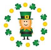 Leprechaun del día del St Patricks Foto de archivo libre de regalías