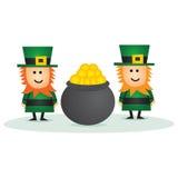 Leprechaun del día del St Patricks Imagen de archivo libre de regalías
