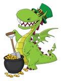Leprechaun del dragón Foto de archivo libre de regalías
