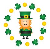 Leprechaun do dia do St Patricks Foto de Stock Royalty Free
