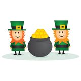Leprechaun do dia do St Patricks Imagem de Stock Royalty Free