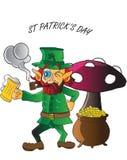 Leprechaun drinking Stock Photography