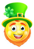 Leprechaun Emoji Emoticon Stock Image