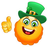 Leprechaun emoticon Royalty Free Stock Images