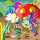 Leprechaun and fairy Royalty Free Stock Image