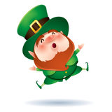 Leprechaun feeling excited Royalty Free Stock Photography