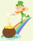 Leprechaun girl Royalty Free Stock Image