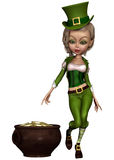 Leprechaun girl Royalty Free Stock Photos