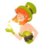Leprechaun girl Royalty Free Stock Images