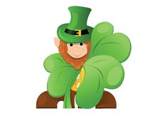 Leprechaun  or gnome  on patrick day Royalty Free Stock Photography