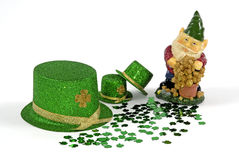 Leprechaun & Gold Royalty Free Stock Photo