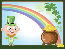 Leprechaun with a gold pot Royalty Free Stock Photo