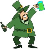 Leprechaun With Green Beer Stock Image