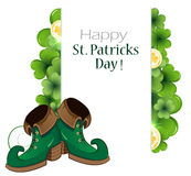Leprechaun green shoes Stock Images
