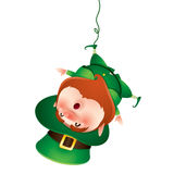 Leprechaun hanging upside down Royalty Free Stock Photos