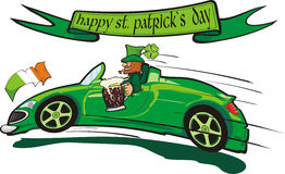 Leprechaun  and happy st. patrick`s day Royalty Free Stock Photos
