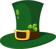 Leprechaun Hat. With clover over white. EPS 8 Stock Photography