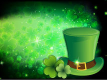 Leprechaun hat and clover Royalty Free Stock Image