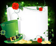 Leprechaun hat entwined with ivy Stock Photos