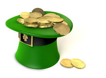 Leprechaun Hat filled with gold Royalty Free Stock Photography