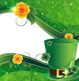 Leprechaun hat with flowers Stock Photo