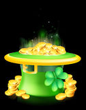 Leprechaun hat full of gold Royalty Free Stock Photos