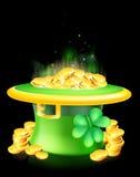Leprechaun hat full of gold Royalty Free Stock Photos