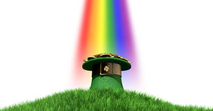 Leprechaun Hat With Gold On A Grassy Hill Royalty Free Stock Photography