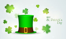Leprechaun hat for Happy St. Patricks Day celebration. Stock Photos