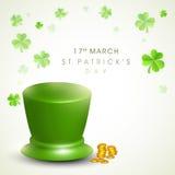 Leprechaun hat for Happy St. Patricks Day celebration. Royalty Free Stock Photos