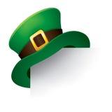 Leprechaun hat. Page corner with St. Patrick's Day green hat of a leprechaun Stock Photo
