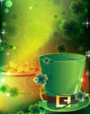 Leprechaun hat and a pot of gold Stock Photography