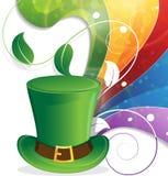 Leprechaun hat and rainbow Stock Photography