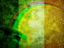 Leprechaun Hat Rainbow Grunge Flag Background Stock Photo