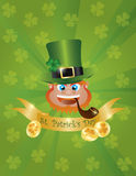 Leprechaun Head with Banner Royalty Free Stock Photo