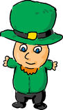 Leprechaun hug cartoon Stock Photo