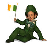 Leprechaun with Irish Flag Royalty Free Stock Photos