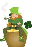 Leprechaun irlandês   Imagem de Stock