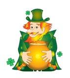 Leprechaun irlandês Fotografia de Stock Royalty Free