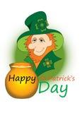 Leprechaun irlandês Fotos de Stock Royalty Free