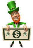 Leprechaun irlandês com dinheiro Foto de Stock Royalty Free