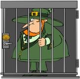 Leprechaun In Jail vector illustration
