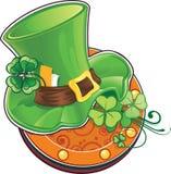Leprechaun kapelusz ilustracji