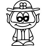 Leprechaun kids coloring page Royalty Free Stock Images