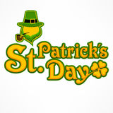 Leprechaun lettering logo Royalty Free Stock Photos