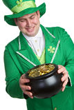 Leprechaun Man. St patricks day leprechaun man Stock Images