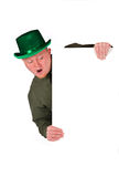 Leprechaun: Man Looking Down At White Card Stock Images