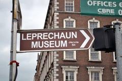 Leprechaun Museum Sign Royalty Free Stock Photos